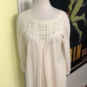 Vintage Christian Dior Sax gauze long nightgown-S